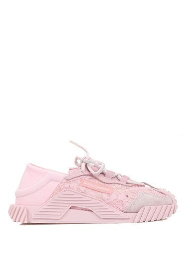Dolce&Gabbana Dolce&Gabbana  Dantel Garnili Kız Çocuk Sneaker 101621014 Pembe